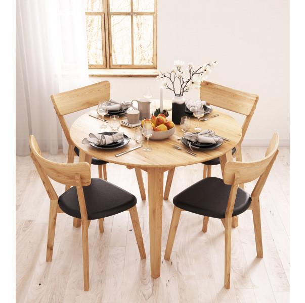 Kulatý stůl dubový 04 rozkládací