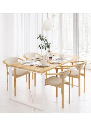 Dubový stůl na kovových nohách 10