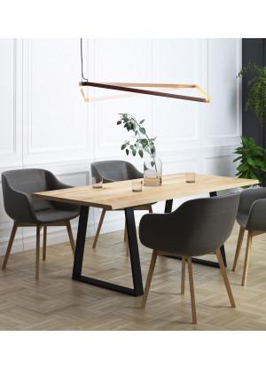 Dubový stůl na kovových nohách 11