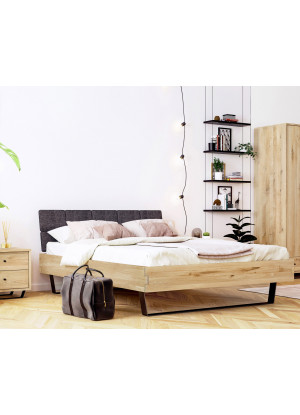 Dubová postel Steel 01