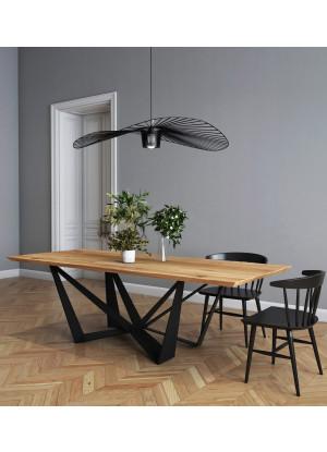 Dubový stůl na kovových nohách Lukka