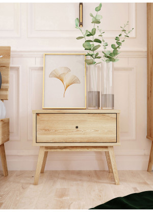 Dubový noční stolek Malaga 01 1s