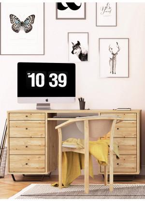 Dubový psací stůl Steel 01