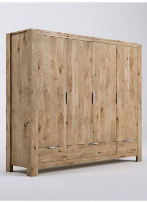 Dubová skříň Vernalis 06 4d+3s