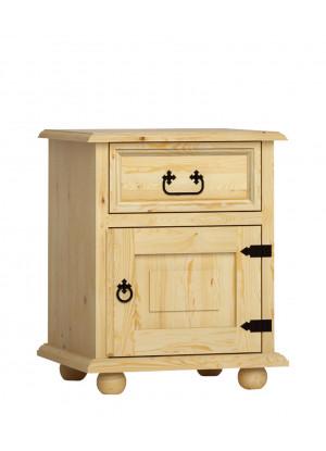 Rustikální noční stolek Beskidzka SD