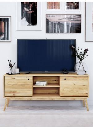 Dubový TV stůl Malaga 03 (2d vysoký)