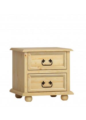 Rustikální noční stolek Beskidzka 2s