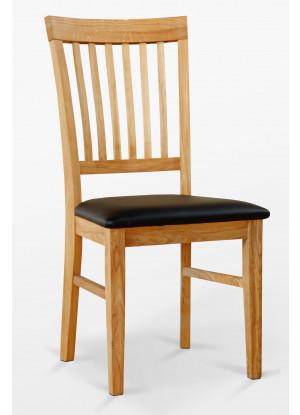 Dubová židle 02 Eko kůže černá/bílá