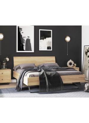 Dubová postel Steel 02