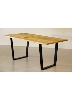 Dubový stůl na kovových nohách 15