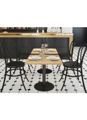 Dubový barový stolek čtvercový (konferenční/pro restauraci/pro kavárnu)