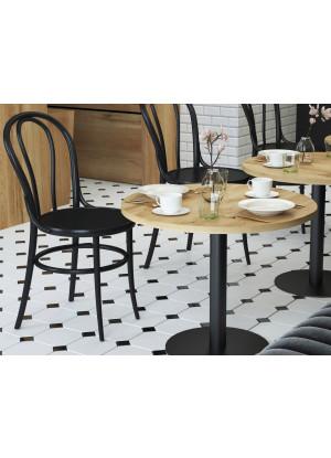 Dubový barový stolek kulatý (konferenční/pro restauraci/pro kavárnu)