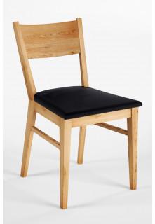 Dubová židle 06 Eko kůže černá/bílá
