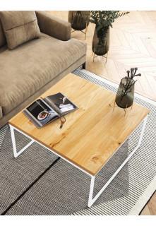 Dubový konferenční stolek Ław04 čtvercový