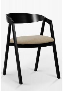 Buková židle NK-15mc Čalounění nebo Eko kůže černá/bílá