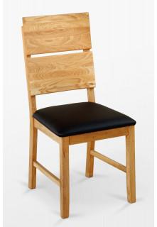 Dubová židle 03 Eko kůže černá/bílá