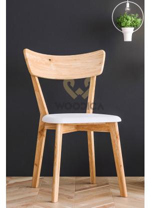 Dubová židle 01 Eko kůže černá/bílá