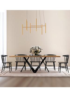 Dubový stůl na kovových nohách Werona