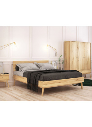 Dubová postel Malaga 01