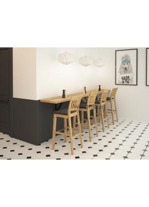 Dubová židle barová 02c