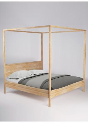 Dubová postel Malaga 02