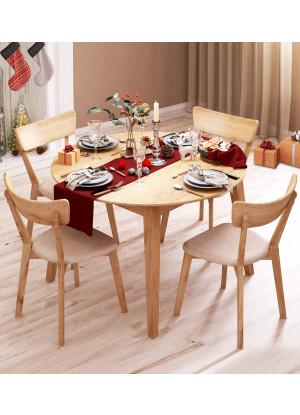 Kulatý stůl dubový 03