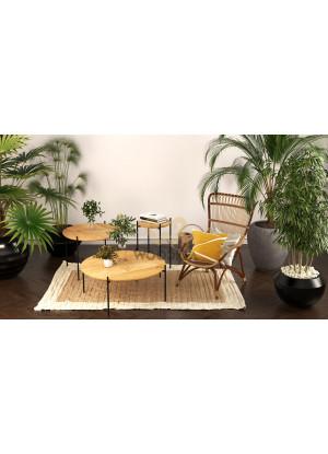 Dubový konferenční stolek Ław13