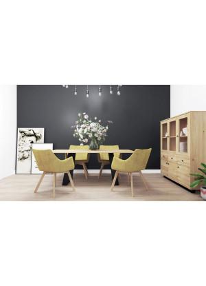 Dubový stůl na kovových nohách 16