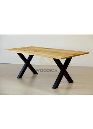 Dubový stůl na kovových nohách 17