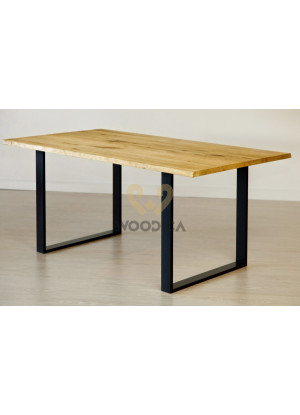 Dubový stůl na kovových nohách 13