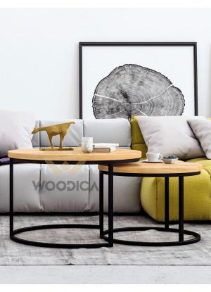 Dubový konferenční stolek Ław03 malý