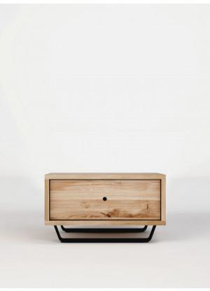 Dubový noční stolek Steel 01 1s